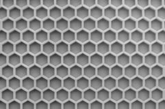 Monochrome Hexagonal wall texture surface. Abstract pattern background. royalty free stock photo