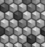 Monochrome hexagones seamless background. Vector illustration Royalty Free Stock Image