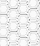 Monochrome hexagons Stock Photos