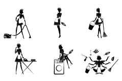 Monochrome Housekeeping Set Stock Photography