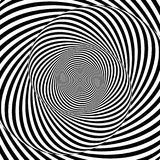Monochrome hypnotic spiral Stock Photography