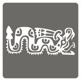 Monochrome icon with American Indians art and ethnic ornaments Royalty Free Stock Photos