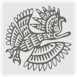 Monochrome icon with American Indians art and ethnic ornaments Royalty Free Stock Photo