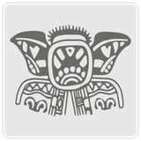 Monochrome icon with American Indians art and ethnic ornaments Stock Photo