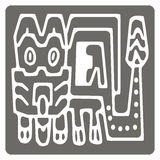 Monochrome icon with American Indians art and ethnic ornaments Stock Images