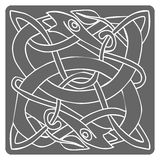 Monochrome icon with celtic art and ethnic ornaments Royalty Free Stock Photos