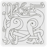 Monochrome icon with celtic art and ethnic ornaments Stock Photo