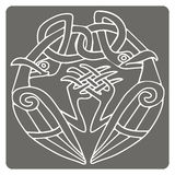 Monochrome icon with celtic art and ethnic ornaments Stock Photos