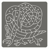 Monochrome icon with celtic art and ethnic ornaments Royalty Free Stock Photo