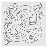 Monochrome icon with Celtic art and ethnic ornaments Stock Image