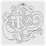 Monochrome icon with Celtic art and ethnic ornaments Royalty Free Stock Images