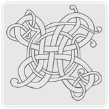 Monochrome icon with Celtic art and ethnic ornaments Royalty Free Stock Photography