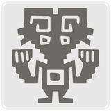 Monochrome icon with Peruvian Indians art and ethnic ornaments Stock Photography