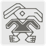 Monochrome icon with Peruvian Indians art and ethnic ornaments Royalty Free Stock Image