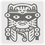 Monochrome icon with Peruvian Indians art and ethnic ornaments Royalty Free Stock Photo