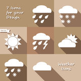 Monochrome icons design of weather forecast Stock Image