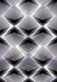 Monochrome illusive abstract seamless pattern with overlapping Royalty Free Stock Image