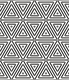 Monochrome illusive seamless pattern, black and white vector background. Royalty Free Stock Photos