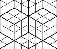 Monochrome illusory abstract geometric Royalty Free Stock Photography