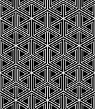 Monochrome illusory abstract geometric seamless pattern with 3d Stock Image