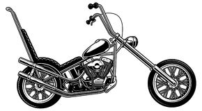 Classic american motorcycle on white background Royalty Free Stock Photography