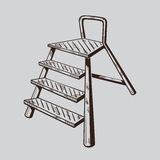 It is monochrome illustration of ladder Stock Photos