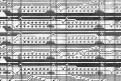 Monochrome industrial circuit board background Royalty Free Stock Image
