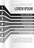 Monochrome info graphics poster template Royalty Free Stock Photo