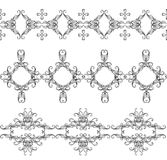 Monochrome interwoven ornaments Royalty Free Stock Photo