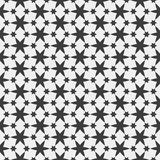 Monochrome Islamic seamless pattern with stars. Vector background Royalty Free Stock Image