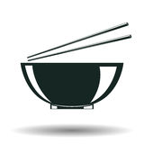 Monochrome japanese bowl sign Stock Photo