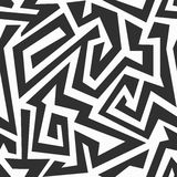 Monochrome labyrinth seamless pattern Royalty Free Stock Photo