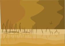 Monochrome lake landscape Royalty Free Stock Photography