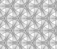 Monochrome light striped tetrapods with grid Royalty Free Stock Images