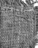 Monochrome Linen straw texture handmade fabric Royalty Free Stock Images