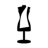 Monochrome manikin tailor shop design close up Royalty Free Stock Photos