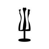Monochrome manikin tailor shop design Royalty Free Stock Image