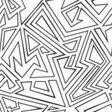 Monochrome maze seamless pattern Royalty Free Stock Photos