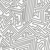Monochrome maze seamless pattern. Stock Image