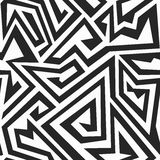 Monochrome maze seamless pattern Stock Images