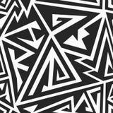 Monochrome maze seamless pattern Royalty Free Stock Image
