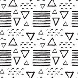 Monochrome Memphis Pattern-07 Stock Photo