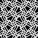 Monochrome messy seamless pattern with parallel lines, black and Royalty Free Stock Images