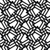 Monochrome messy seamless pattern with parallel lines, black and Stock Photography