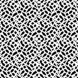 Monochrome messy seamless pattern with parallel lines, black Royalty Free Stock Photos