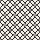 Monochrome minimalistic seamless pattern with circles. Simple hand drawn texture. Vector background with rounded lines vector illustration