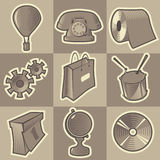 Monochrome miscellaneous icons Stock Photo