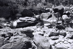 Monochrome Mountain Creek Stock Image