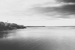 Monochrome Ocean Water Royalty Free Stock Photo