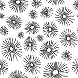 Monochrome organic radial cells. Vector seamless pattern. Vector seamless pattern. Monochrome organic radial cells. Hand drawn abstract background vector illustration